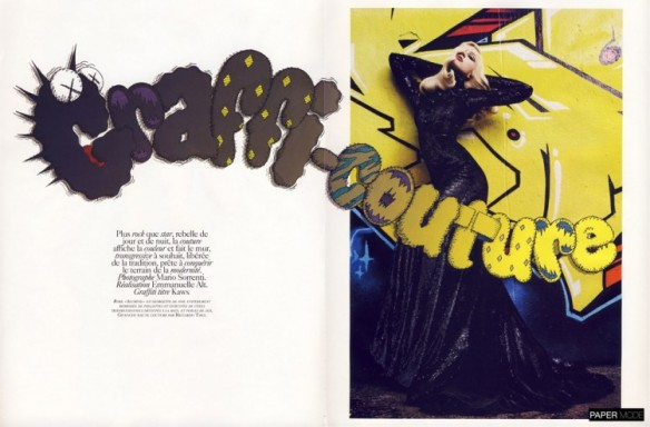 """GRAFFI-COUTURE"" BY MARIO SORRENTIvogue paris nov 09 papermode"