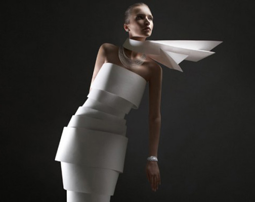 PAPER DRESS EDITORIAL FOR L'OFFICIELviacynatrendland